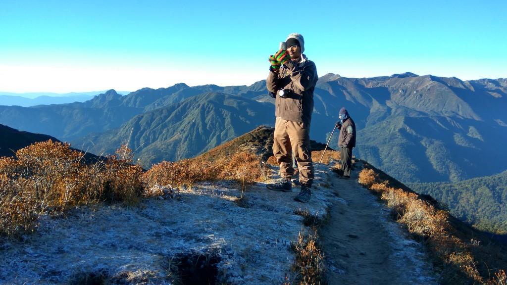 That's Shilajit at Dzongri Top, during the 1st batch for Goecha La.