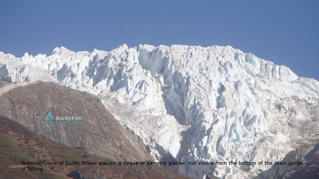 The long hidden South Simvu glacier.