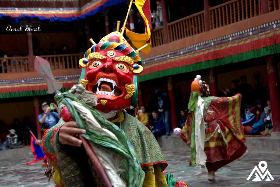 chaam mask dance at ladakh festivals