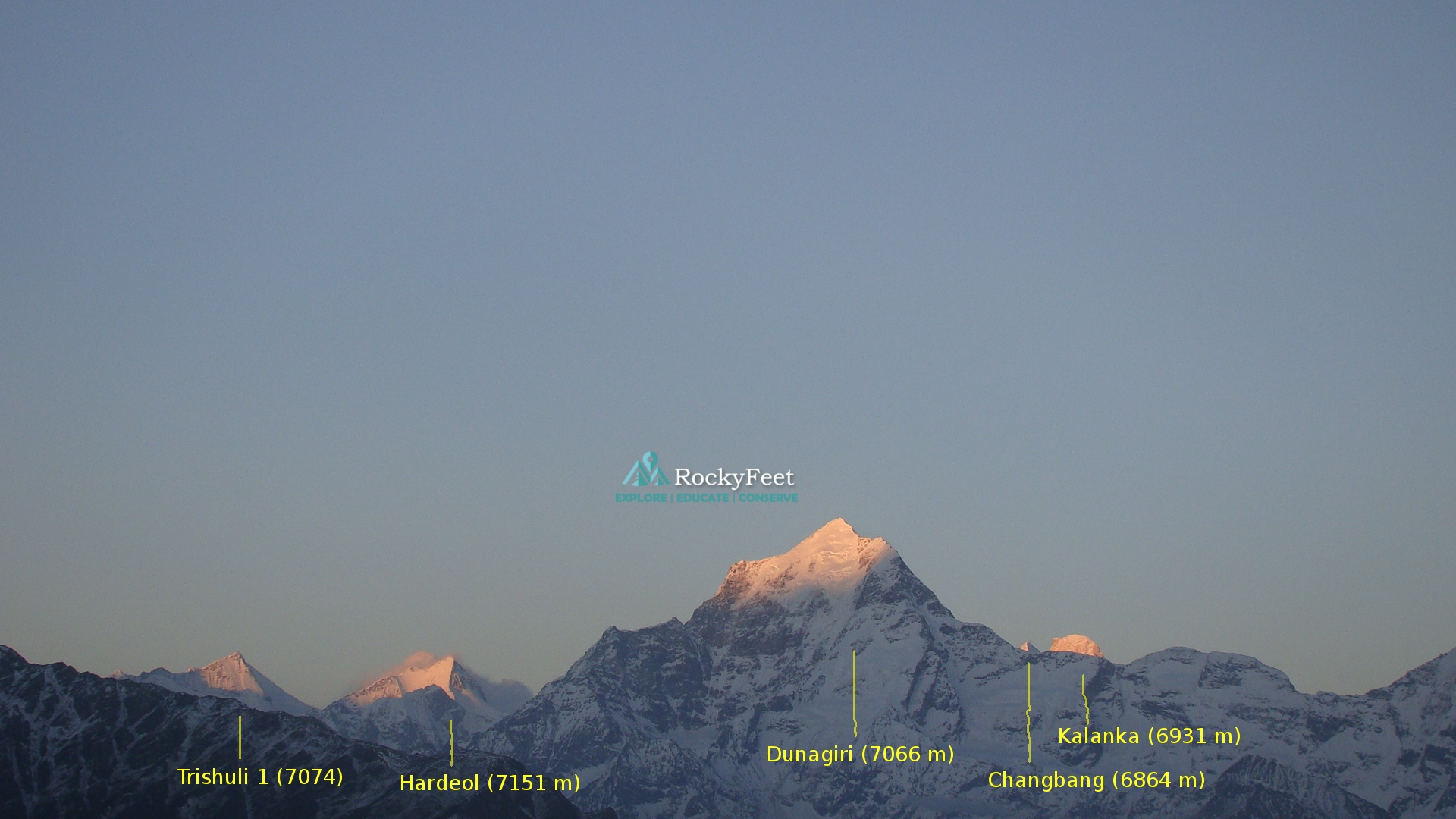 Dunagiri, Trishuli , Hardeol , Changbang, Kalanka forming the northern boundery of Nandadevi inner sanctuary