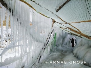 inside of an ice stupa 2
