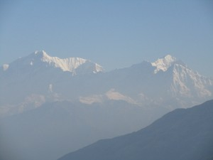 View from Chandrashila top : Left to right - Mt Kedarnath, Mt Kedardome , Mt Sumeru , Mt Kharchakund
