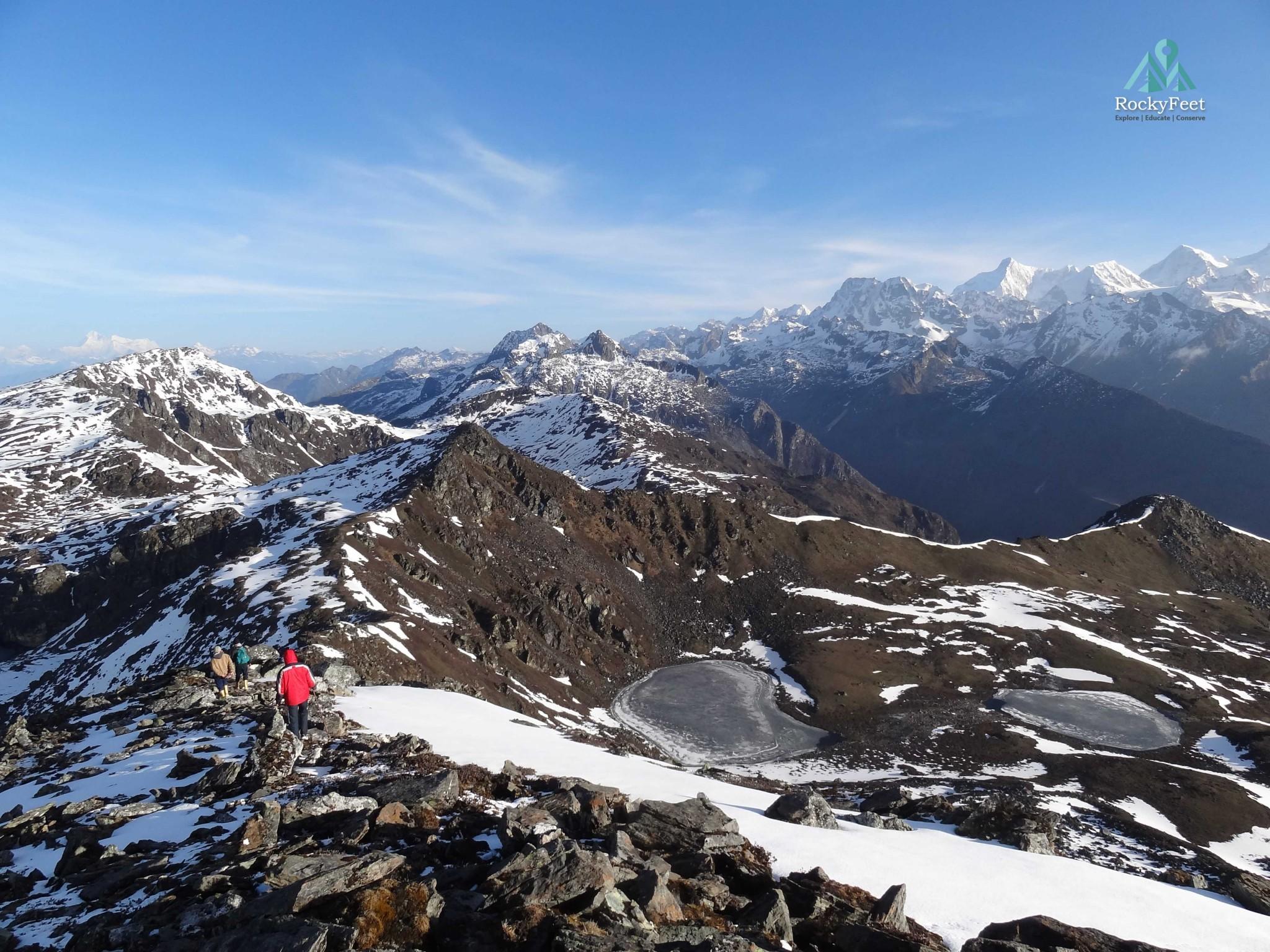 Walk along the ridge and savour the spectacular vista