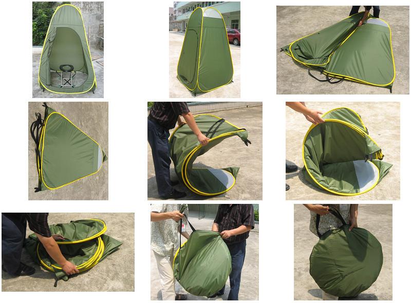 Pop up toilet tent