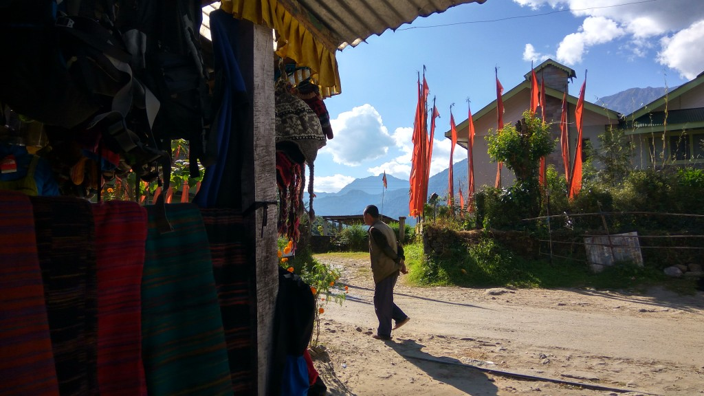 Another view from the trekking gear shop just beside Gupta Cafe at the heart of Yuksom. Photo taken the day after